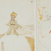 Trois esquisses originales des illustrations du Petit Prince retrouvées en Suisse