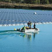 Une première grande centrale solaire flottante inaugurée en France