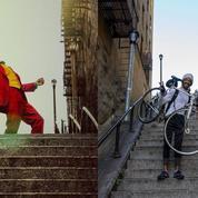 Dans le Bronx, les touristes déferlent en masse sur les marches du Joker