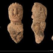 Quatre bustes gaulois du 1er siècle découverts en Bretagne
