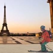 Ski: ouverture des pistes... au Trocadéro!