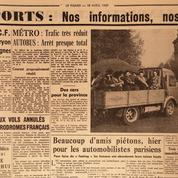 Grève des transports en 1957: les plans B du Figaro
