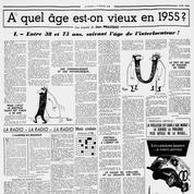 En 1955 Le Figaro mène l'enquête: à quel âge est-on vieux et inapte au travail?