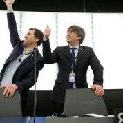 Carles Puigdemont arrive en majesté au Parlement européen