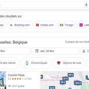 Site de location de vacances: Google donne plus de visibilité à ses concurrents
