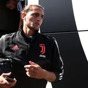 Adrien Rabiot en train de gagner son pari à la Juventus