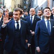 La France s'affiche auprès de l'Italie amie
