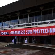 Polytechnique: manifestation contre l'implantation d'un bâtiment de Total