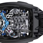 Un moteur de Bugatti Chiron au poignet