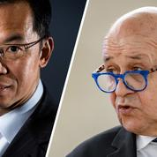 L'ambassadeur de Chine en France recadré par Jean-Yves Le Drian