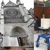 Basilique Saint-Denis: des tailleurs de pierre et forgerons enseignent leur savoir-faire ancestral