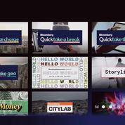 Bloomberg lance sa chaîne d'info QuickTake