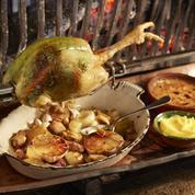 Les recettes de Michel Guérard: poireaux vinaigrette au jambon de Bigorre, poulet des Landes «truffé» au persil, tarte feuilletée pommes amandes