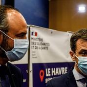 Covid-19: la stratégie de dépistage massif a été lancée au Havre par Olivier Véran et Édouard Philippe