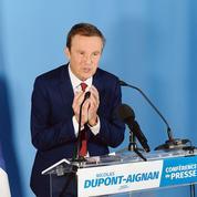 Nicolas Dupont-Aignan en campagne radicale
