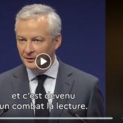 «Arrachez-vous de vos écrans!»: la vidéo de Bruno Le Maire sur la lecture fait réagir