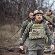 Face à la menace russe, le président ukrainien Zelensky appelle l'Europe à l'aide