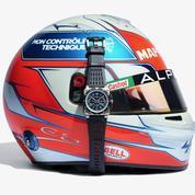 Une Bell & Ross Alpine au poignet d'Esteban Ocon