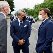 Emmanuel Macron à Douai pour le lancement d'une usine de batteries sino-japonaise