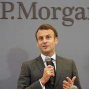 Emmanuel Macron milite pour la place financière parisienne