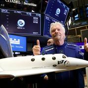 Richard Branson fait son premier vol dans l'espace avec Virgin Galactic