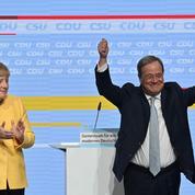L'ombre de Merkel hante lacampagne deson dauphin