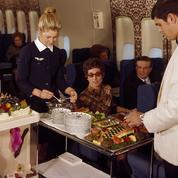 Voyage en avion: quand le service à bord était de haute volée