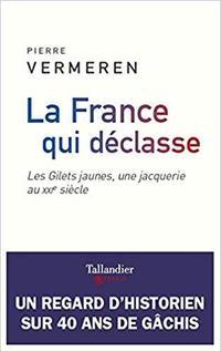 La France qui déclasse . Les Gilets jaunes, une jacquerie  au XXI e  siècle, Taillandier, 192 pages, 16,90 €.