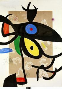 Joan Miro, Inceste au Sahara (1974) àlaFondation Maeght à Saint-Paul-de- Vence.