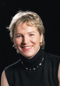 Elise Lucet en 2000, à La Sorbonne
