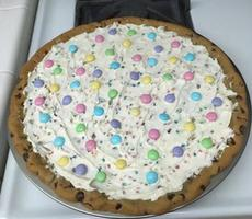 Pizza-cookie de Pâques. ©M. Spencer