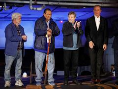 George Lucas, Harrison Ford, Mark Hamill... Ils ont inauguré l'espace Star Wars de Disneyland