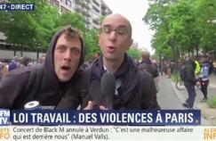 En pleine manifestation, un homme perturbe l'antenne de BFMTV