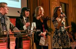 Sandrine Quétier et Anne-Claire Coudray au gala Toutes à l'école