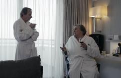 Thalasso : carton plein à l'avant-première pour les pitreries de Depardieu et Houellebecq