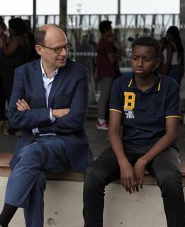 Denis Podalydès avec Abdoulaye Diallo