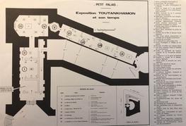 Le plan de l'exposition «Toutankhamon et son temps», Petit Palais, 1967.