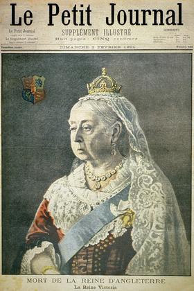 Première page du journal «Le Petit Journal» du 3 février 1901: mort de la reine Victoria (1819-1901).