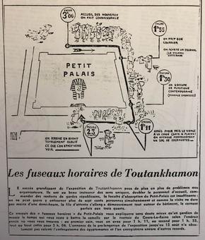 La file d'attente pour entrer à l'exposition Toutankhamon vue par PIEM parue dans «Le Figaro» du 1-2 avril 1967.