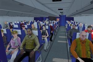 La peur de l'avion peut être traitée par thérapie virtuelle.