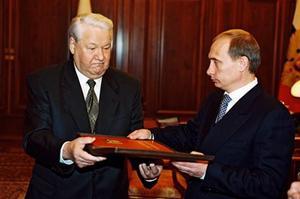Eltsine et Poutine en 1999.