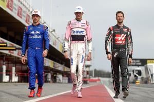 Pierre Gasly, Esteban Ocon et Romain Grosjean.