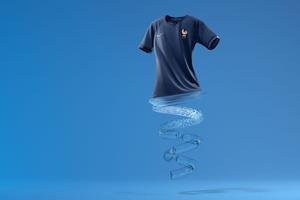 Le maillot de l'équipe de France féminine de football 100% écoresponsable
