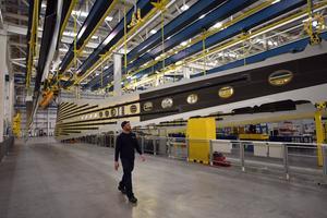 L'usine de construction d'ailes d'Airbus de Broughton au Pays de Galles.