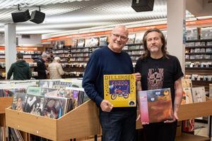 Jean Sabouraud  <i>(à gauche)</i>, directeur du magasin Gibert Joseph Paris 6 Musique, et Philippe Marie, son adjoint.