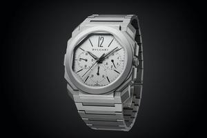 Chronographe Octo Finissimo GMT, mouvement automatique, Bulgari.