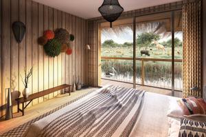 Chambre d'un lodge de Planète Sauvage (photo de synthèse).