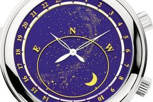 La Sky Moon Tourbillon de Patek Philippe développée en 2001 cumule les complications (quantième perpétuel, répétition minutes, tourbillon...) et révèle, au dos, une voûte céleste avec mouvement des étoiles, angles de la lune, phases lunaires et indication de l'heure sidérale.