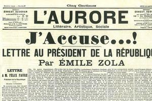 L'article publié par Zola dans «L'Aurore», le 13 janvier 1898.