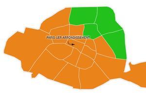 Liste arrivée en tête à Paris, par arrondissement, aux européennes 2019.